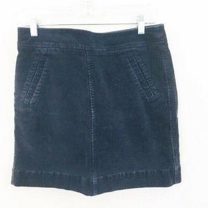 LOFT Navy Blue Corduroy Mini Skirt 6
